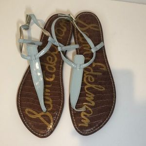 Sam Edelman blue thong strap sandals